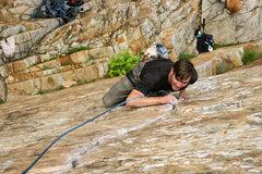Rock Climbing Photo: devon leanin on goodros crack
