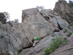 Rock Climbing Photo: The approach slab to Brand New Bosch, Party Time, ...