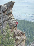 Rock Climbing Photo: Unknown climber toproping Happy Ending from Red De...