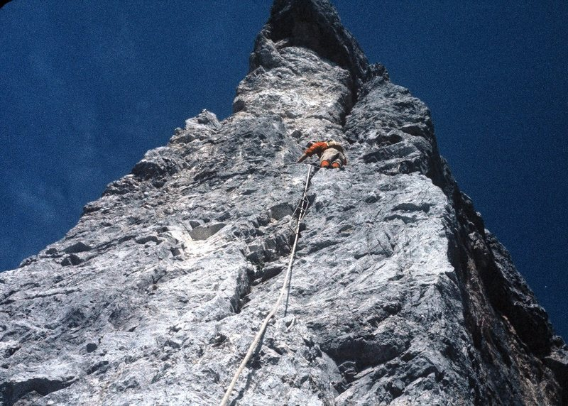 This pitch was the crux of the route.