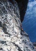 Rock Climbing Photo: Up and around the corner!