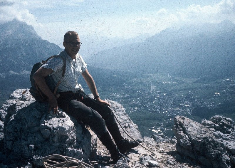 Rock Climbing Photo: My 24 year old ass on the summit of Punta Fiames. ...