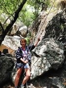 Rock Climbing Photo: giving Jon Asher a belay at Echo Cliffs