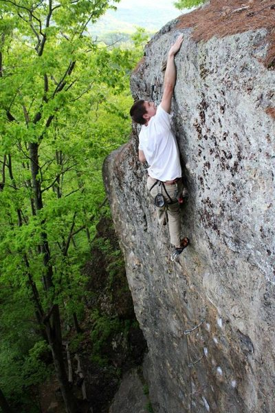 Rock Climbing Photo: kevin up top