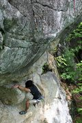 Rock Climbing Photo: Graham on the lower section, shows how steep it is...