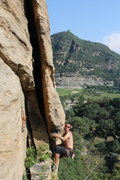 "Rock Climbing Photo: Marton Mihaltz on the ""Flake of Fate."" T..."