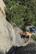 "Rock Climbing Photo: A look down the first half of ""Digua"" (&..."