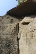"""Rock Climbing Photo: Looking up to the exit roof on """"Digua""""/&..."""