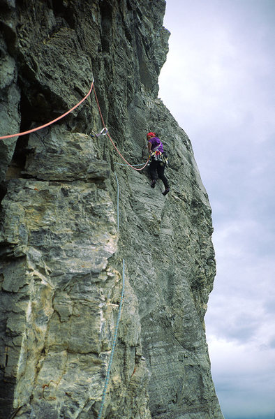 Rock Climbing Photo: Forbidden Corner, Fran Bagenal, P8