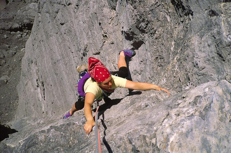 Rock Climbing Photo: Pitch 2, Direttissima, Fran Bagenal