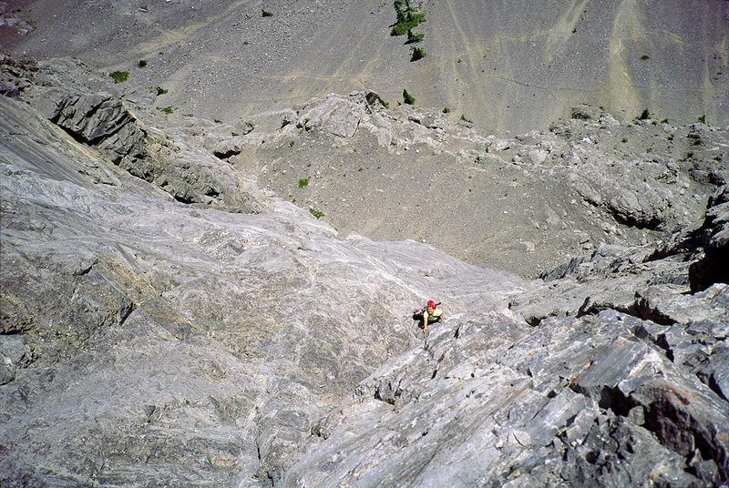 Rock Climbing Photo: Last pitch on Direttissima, Fran Bagenal