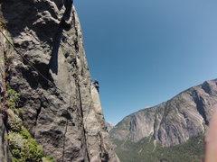 Rock Climbing Photo: Kalvan on the 11th Pitch