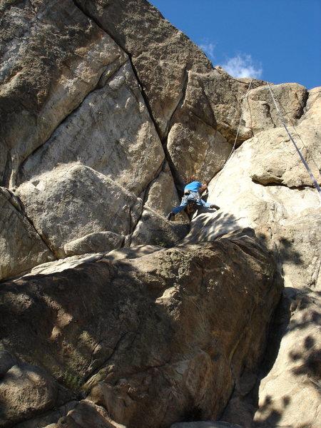 Rock Climbing Photo: J. Slezak on the Leaning Corner.