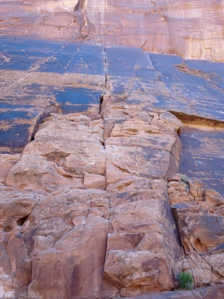 Wolverine or called crack one if you have the Moab best climbs guide book.
