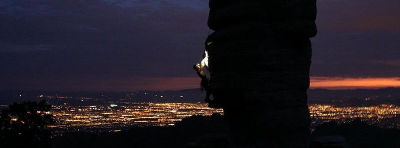 Climbing on Mt. Lemon at night