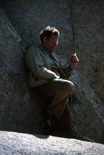 Caught Mr. Stannard multi-tasking. First route of the morning. B.C. Mexico 1988