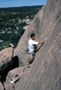Rock Climbing Photo: Same trip. Glenn Short down below. 1988 B.C. Mexic...