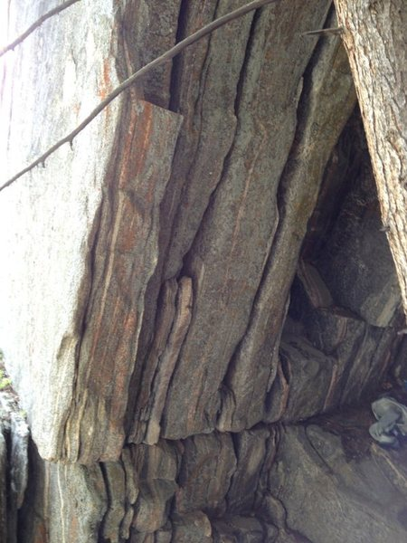 Rock Climbing Photo: The steep hand cracks of The Veil Wall