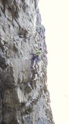Rock Climbing Photo: Pump-a-Lama, 11b.  Photo by Leah Frazer.