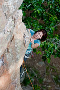Rock Climbing Photo: Karen Elshout warming up near Crimp Scampi.  Photo...