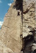 Rock Climbing Photo: FA ascent of Heatstroke, 1986.