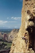 Rock Climbing Photo: FA ascent of Heatstroke, June 1986. Note vintage F...