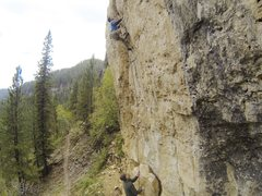 Rock Climbing Photo: Last of the Mohicans, 5.12a. Indian Wars Wall, Moh...