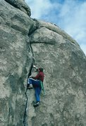 Rock Climbing Photo: Gary moving smoothly on Butterfly Crack.