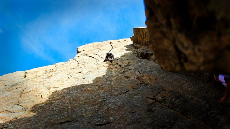 Rock Climbing Photo: Halfway up the monster