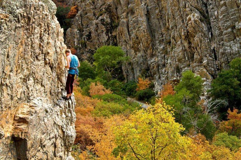 Rock Climbing Photo: Top of The Edge