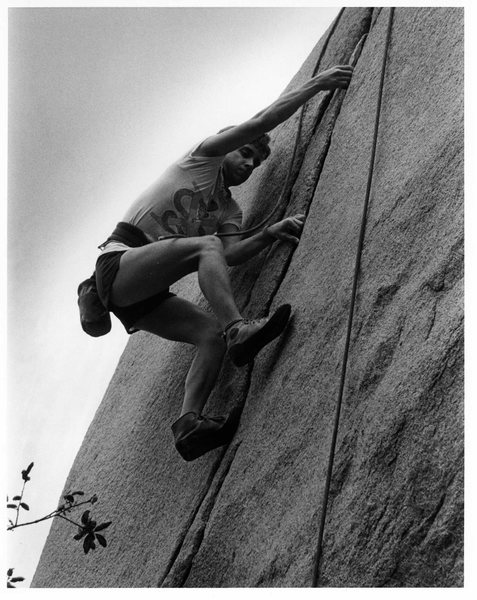 Didn't catch his name.<br> Bouldering Comp. 1986