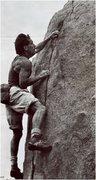 Rock Climbing Photo: Private property near Woodson, 80s. Mike Stewart. ...