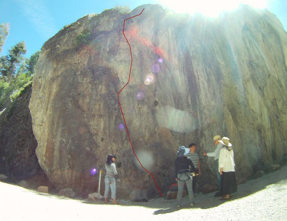 Rock Climbing Photo: Follow red line to the top.