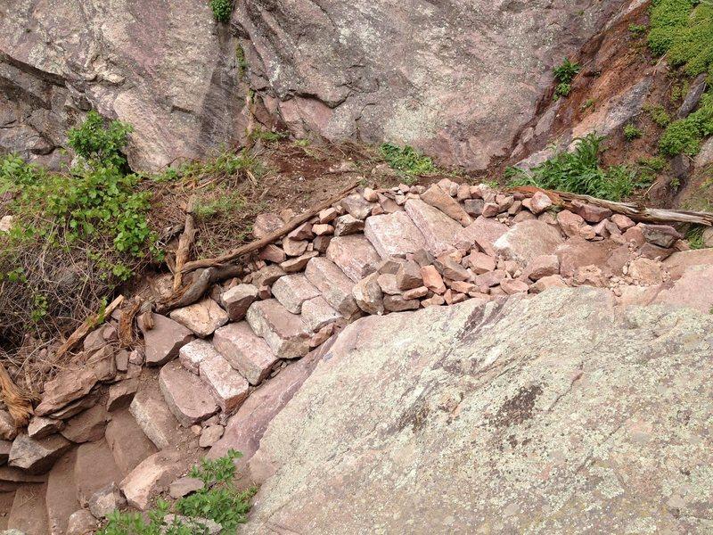 Rock Climbing Photo: Hawk/Eagle Ridge steps in Eldo. Finally finished!