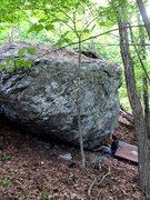 "Rock Climbing Photo: Church Boulder. Kent on the start to ""Ultraqu..."