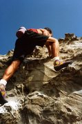 Rock Climbing Photo: Onion Man top out.