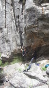 Rock Climbing Photo: Low crux.