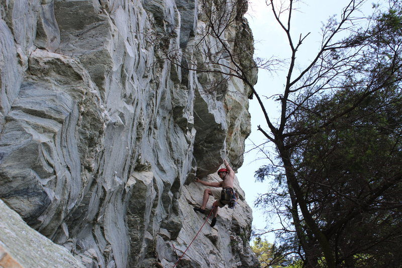 Rock Climbing Photo: Greg Loomis on Pooh's Corner