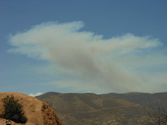 Rock Climbing Photo: A huge column of smoke from the Powerhouse fire, N...
