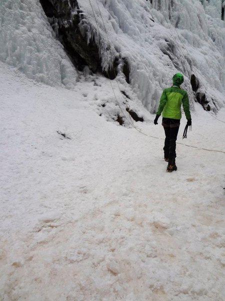 Ice climbing in Ouray, Colorado.