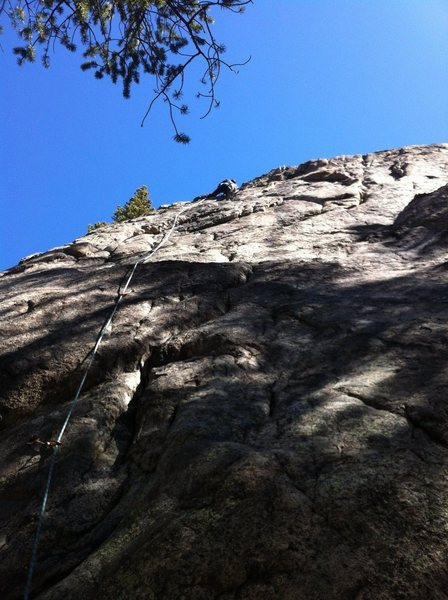 Rock Climbing Photo: Erik leading.