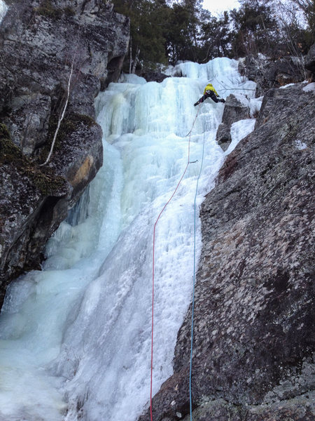 Rock Climbing Photo: found some nice stems on thin ice to the right!