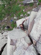 Rock Climbing Photo: Jake Blanc in the clean dihedral