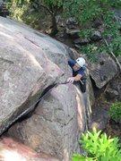 Rock Climbing Photo: Austin, one last move