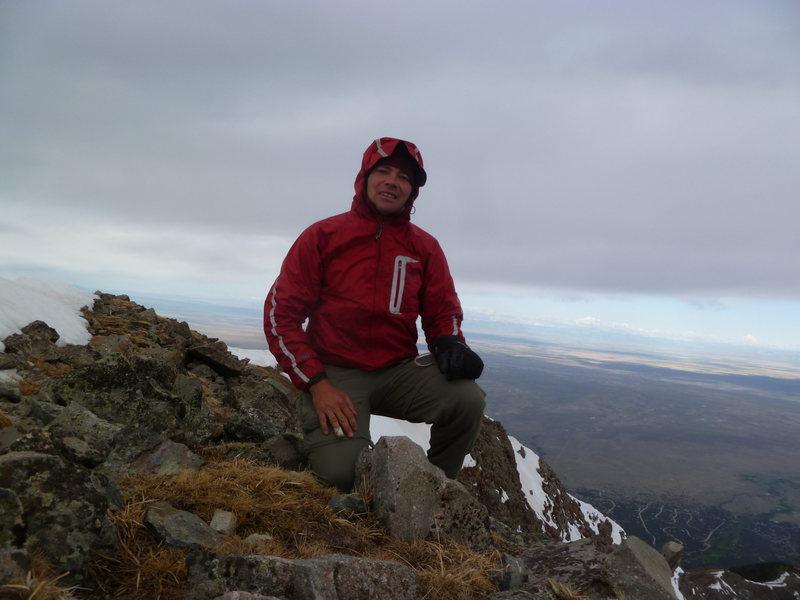 On top of an unnamed 13er near Mt. Adams.