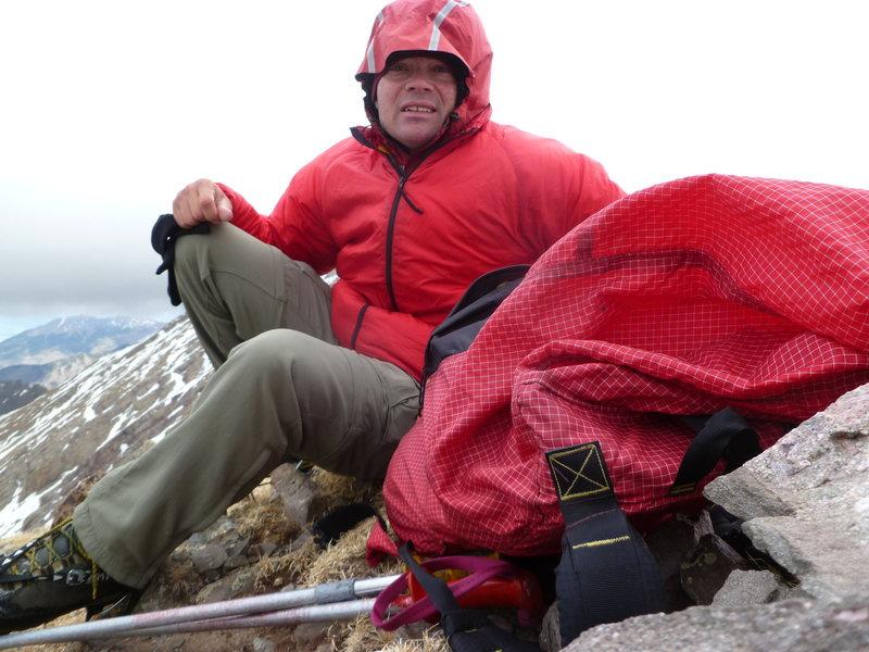 Rock Climbing Photo: On unnamed 13,580' near the Crestone's.