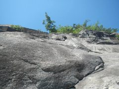 Rock Climbing Photo: looking up from the lunch ledge