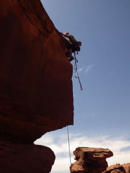 Rock Climbing Photo: a little free......