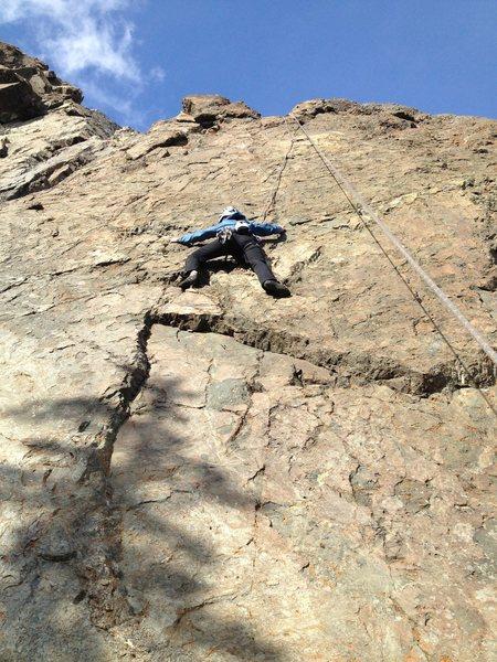Rock Climbing Photo: Adrienne Kentner on Thrombosis 5.10b. Poser 5.10a/...