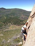Rock Climbing Photo: About 15-20 feet up the lower crack system